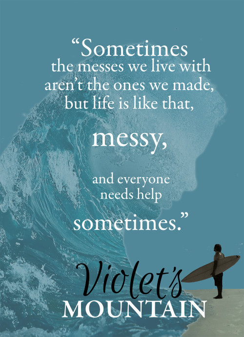 """sometimes the messes we live with aren't the ones we made, but life is like that, messy, and everyone needs help sometimes."""